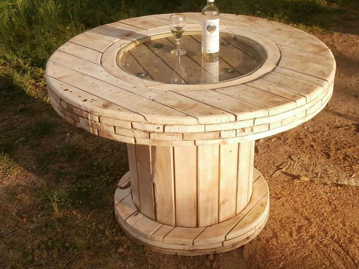 Zr b to sam a stolik ze szpuli agnieszka buchta for Outdoor tables made out of wooden wire spools